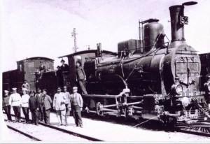 Локомотив на жп гара Костенец