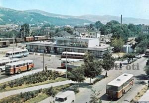Автогара  в гр. Костенец някъде към краят на 70-те години на миналият век.