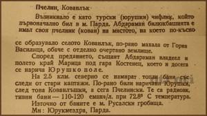 История за село Пчелин.