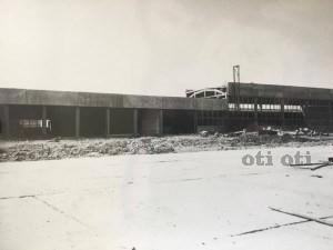 Новата кибритна фабрика в строеж някъде към 70те години на миналият век