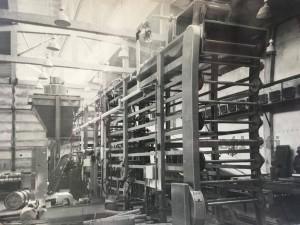 Поточна линия за киприт в новата кибритна фабрика