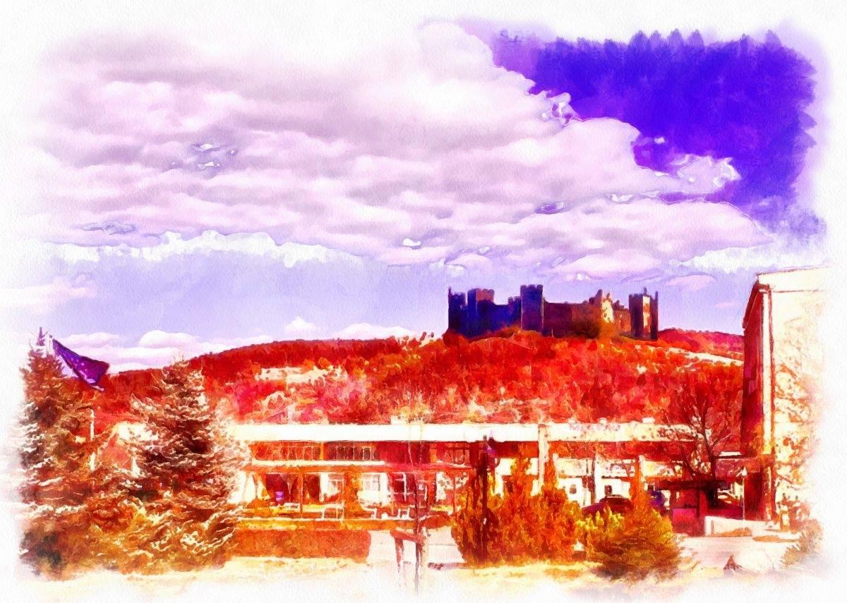 Картина на крепостта Градище край Костенец